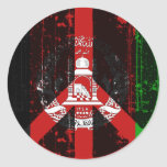 Peace In Afghanistan Round Stickers