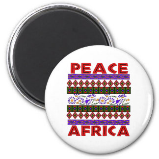 Peace In Africa 2 Inch Round Magnet
