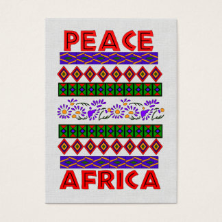 Peace In Africa Business Card