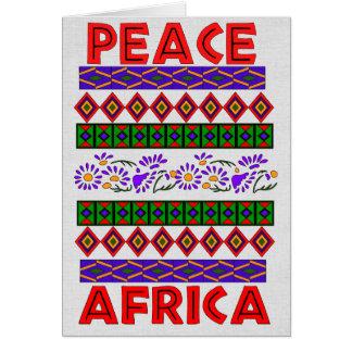Peace In Africa Card