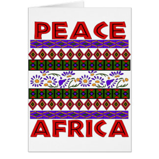 Peace In Africa Greeting Card