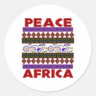 Peace In Africa Classic Round Sticker