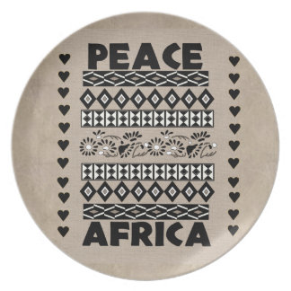 Peace In Africa Dinner Plate