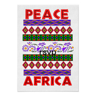 Peace In Africa Custom Announcement