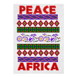 Peace In Africa Custom Invitations