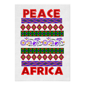 Peace In Africa Custom Invitation