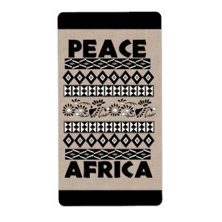 Peace In Africa Label