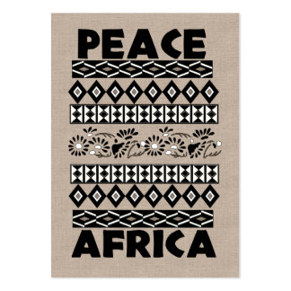Peace In Africa Large Business Card