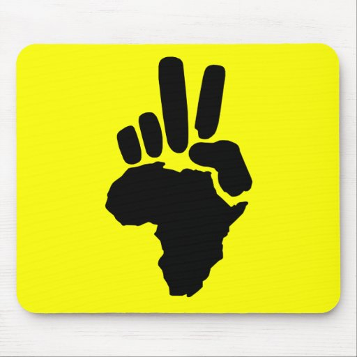 Peace in Africa Mouse Mat