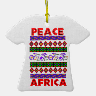 Peace In Africa Double-Sided T-Shirt Ceramic Christmas Ornament