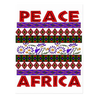 Peace In Africa Postcard