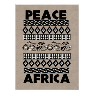 Peace In Africa Poster