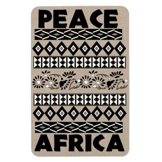 Peace In Africa Rectangular Photo Magnet
