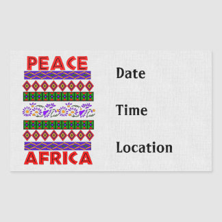 Peace In Africa Rectangular Sticker