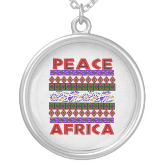 Peace In Africa Round Pendant Necklace
