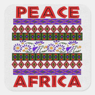 Peace In Africa Square Sticker