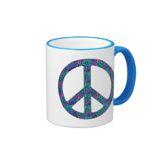 Peace in all Colors Ringer Coffee Mug