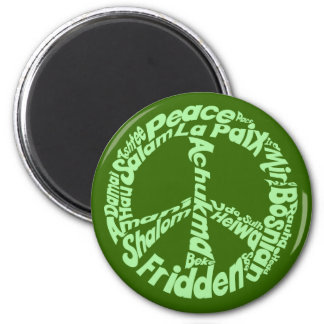 Peace in all Languages 2 Inch Round Magnet