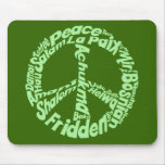 Peace in all Languages Mousepad