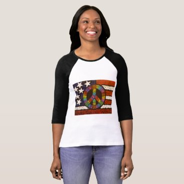 USA Themed Peace in America T-Shirt