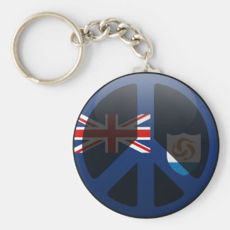 Peace in Anguilla Key Chains