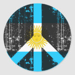 Peace In Argentina Round Stickers