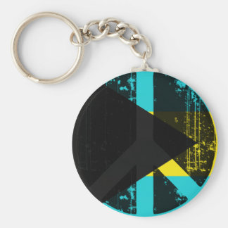 Peace In Bahamas Basic Round Button Keychain