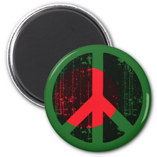 Peace In Bangladesh 2 Inch Round Magnet