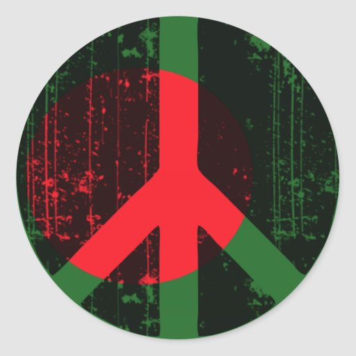 Peace In Bangladesh Sticker
