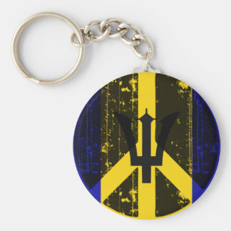 Peace In Barbados Key Chains