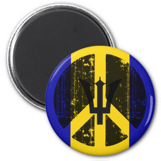 Peace In Barbados Magnets