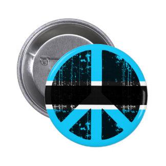 Peace In Botswana Pinback Button