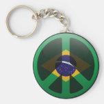 Peace in Brazil Keychain