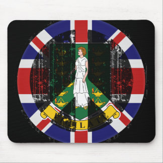 Peace In British Virgin Islands Mouse Pad