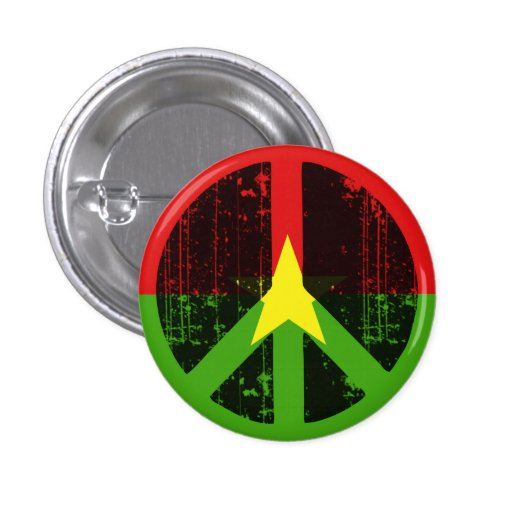 Peace In Burkina Pinback Buttons