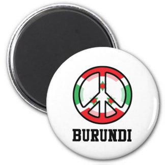 Peace In Burundi 2 Inch Round Magnet
