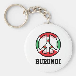 Peace In Burundi Basic Round Button Keychain