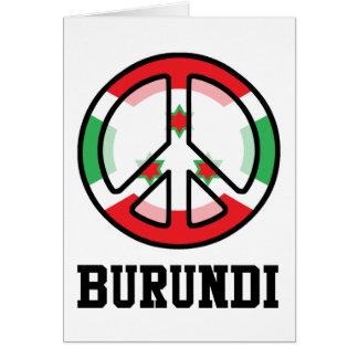 Peace In Burundi Card