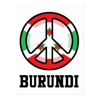 Peace In Burundi Postcard