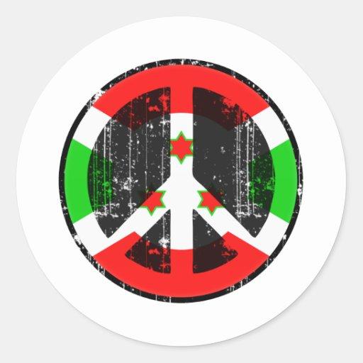 Peace In Burundi Stickers