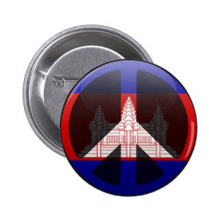Peace in Cambodia Pinback Button