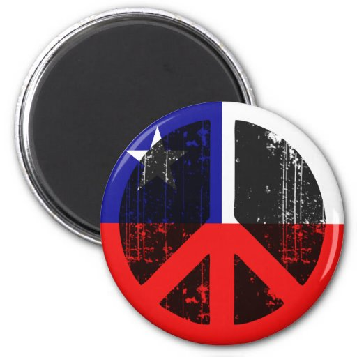 Peace In Chile Refrigerator Magnet