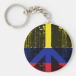 Peace In Colombia Key Chains