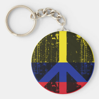 Peace In Colombia Keychain