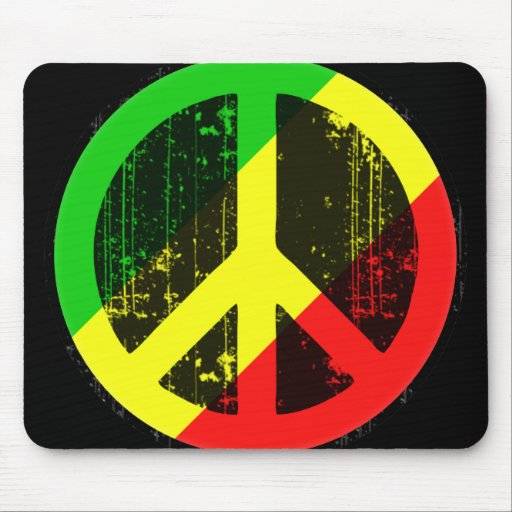 Peace In Congo Brazzaville Mouse Mats