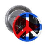 Peace In Cuba Pinback Buttons