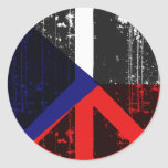 Peace In Czech Round Sticker