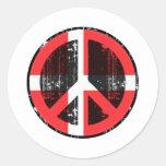 Peace In Denmark Classic Round Sticker