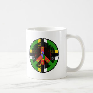 Peace In Dominica Classic White Coffee Mug