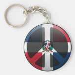 Peace in Dominican Republic Key Chains